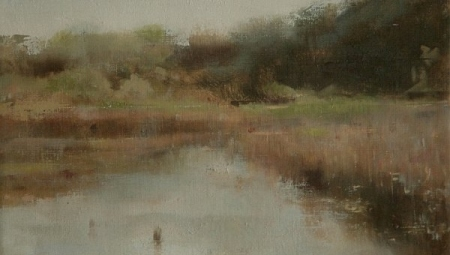 Pond at Mill Neck, 2007   Oil on canvas, 9 x 12 in.