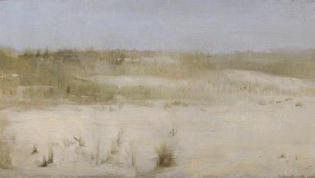 Beach Grasses, #2, 2005, oil on board, 6 x 12 in. $2800