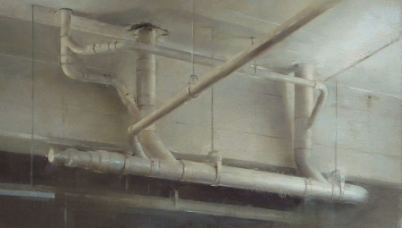Ceiling Pipes, 2012 Oil on linen, 14 x 23 in. $5,000