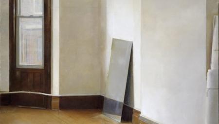 Studio Interior, 2012<br />Oil on canvas, 51 x 39 in.