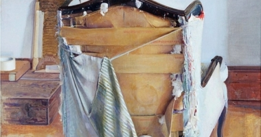 Studio Chair, 1998, oil on canvas, 60 x 44 in.