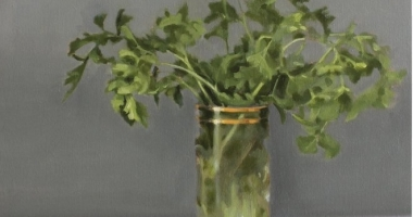 Wendy Prather Burwell, Parsley, oil on canvas, 18 x 14 in. Sold