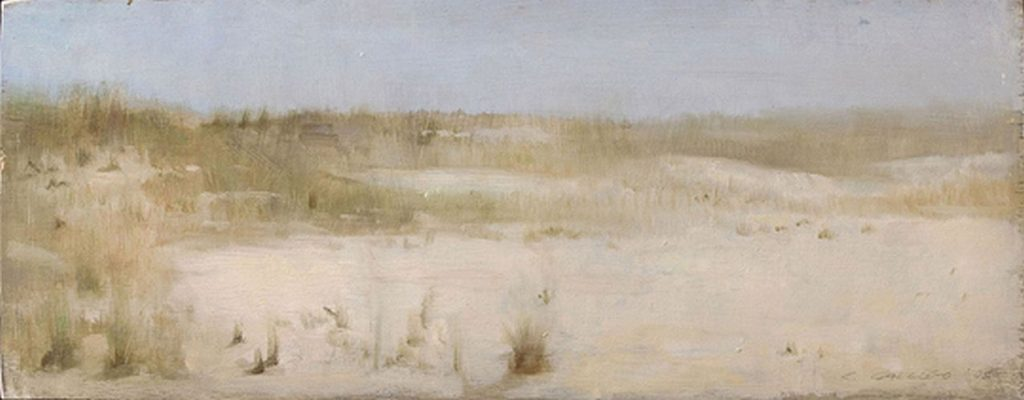Christopher Gallego, American b. 1959, Beach Grasses # 2, Oil on board 2006