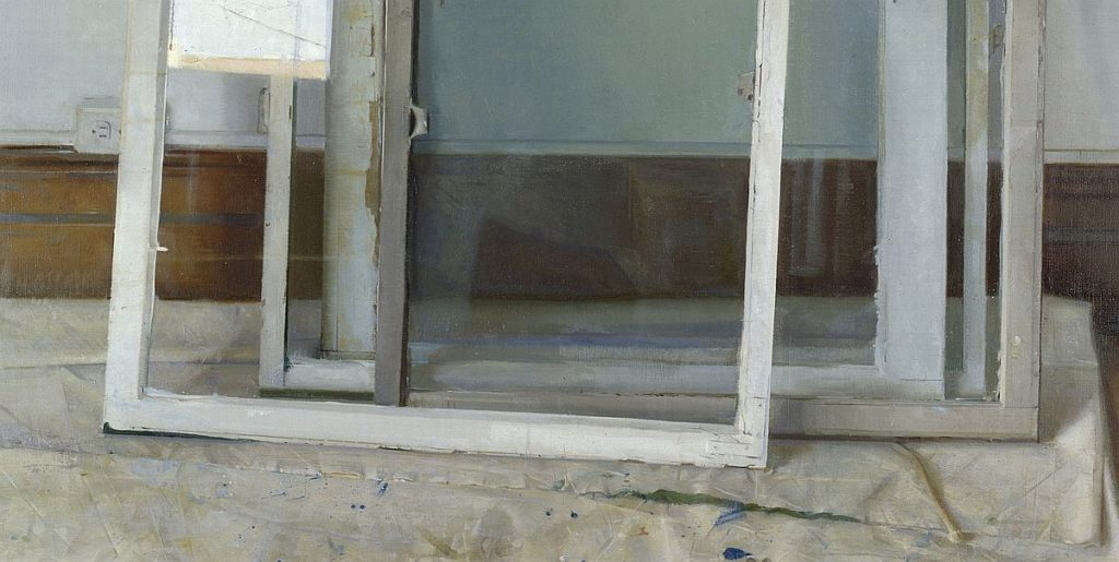 Christopher Gallego, American b. 1959, Window Panes, detail, 2002