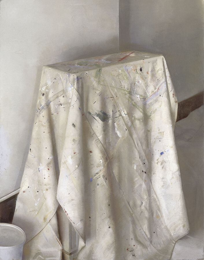 Christopher Gallego, American, b. 1959, Drop Cloth, 2012, Oil on canvas, 49 x 38.5 in., Sold