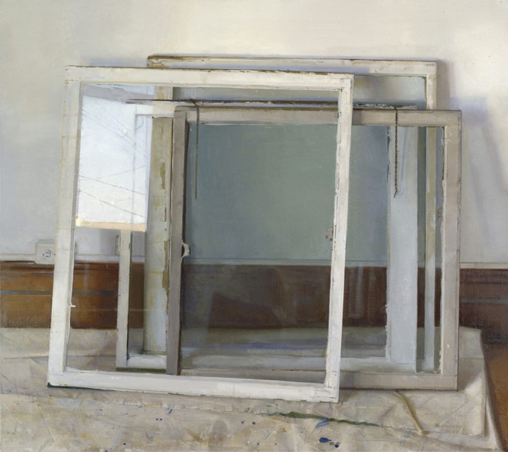 Christopher Gallego:Window Panes, 2000-2002, Oil on canvas, 48 x 54 in.