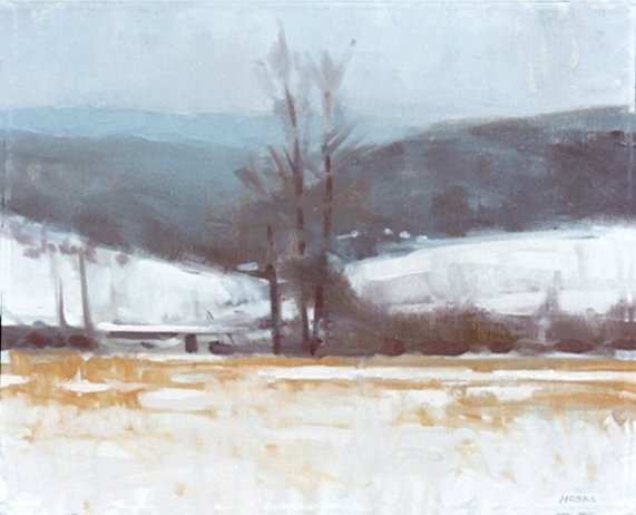 Christopher Gallego blog, Featured Artist: Frank Hobbs, Winter Distance Field